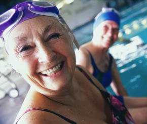 Swimmers choosing a community at Senior Resource Group LLC