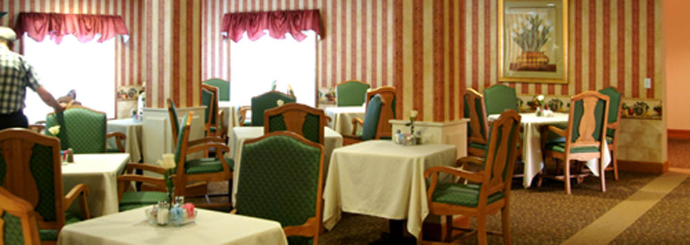 Dining room at senior living near Beckley, WV