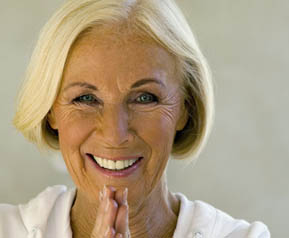 Smiling woman at Senior Resource Group LLC Communities