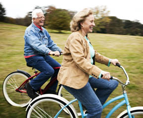 Community residents riding bikes Senior Resource Group LLC