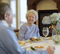 Dining at Garden View Care Center at Dougherty Ferry in St. Louis MO