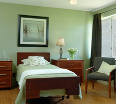 Garden View Care Center of Chesterfield personlizes your room to feel like home.