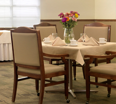 Dining at Garden View Care Center of Chesterfield in St. Louis MO