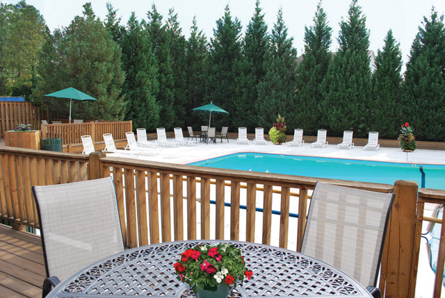 pool deck at the Apartments For Rent in Durham, NC 27705