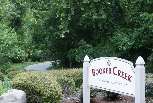 Sign Booker Creek Townhouse Apartments