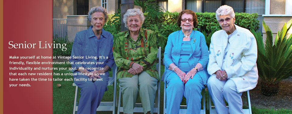 Resident ladies Vintage Senior Living