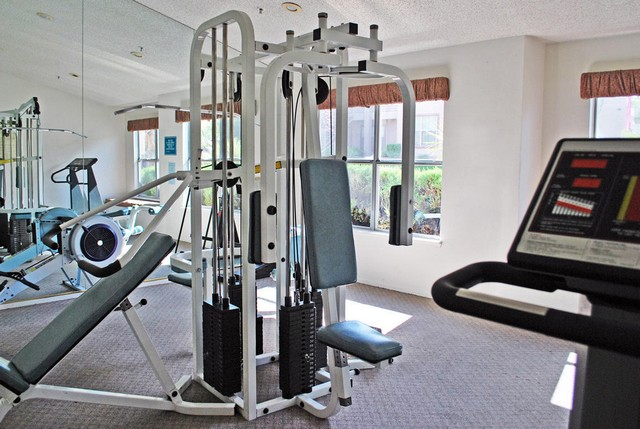 fitness facility at Promontory Point Henderson Apartments
