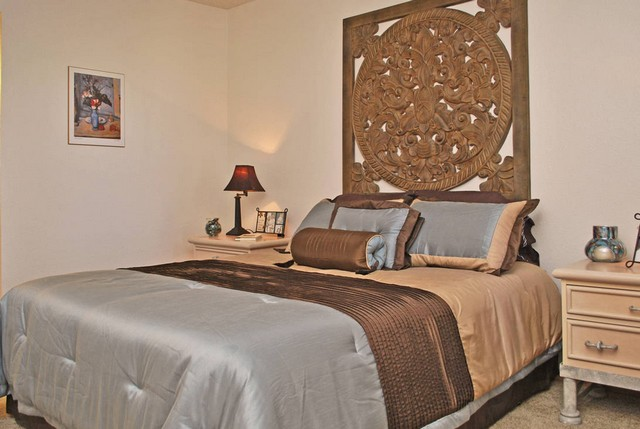 generous master bedroom at Promontory Point Henderson Apartments