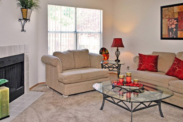 living room with fire place at the Apartments For Rent in Henderson, NV 89014