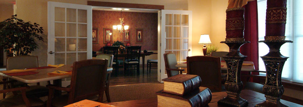 Parkersburg senior living residents lounge