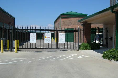 Aurora self storage gates. protecting your stuff everway we can.