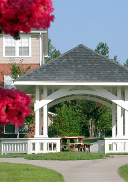 Apartment amenities in richmond include a gazebo at The Crossings at Short Pump