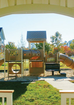 The Crossings apartment amenities include a playground for kids.