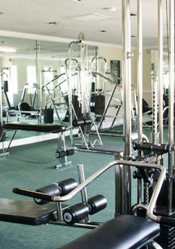 Fitness center at Chesterfield Village
