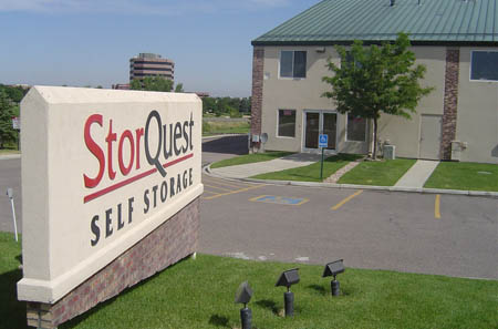 Street view of one of Centennial self storage's units