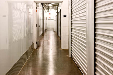Access self storage in Centennial units from wide hallways