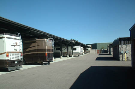 RV parking is available at self storage in Westminster