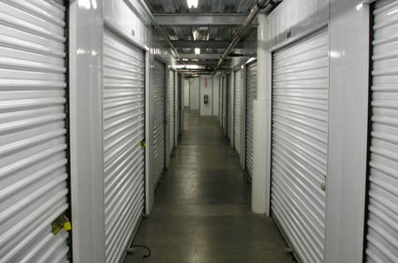 Indoor storage units at self storage in Corona are easily accessible