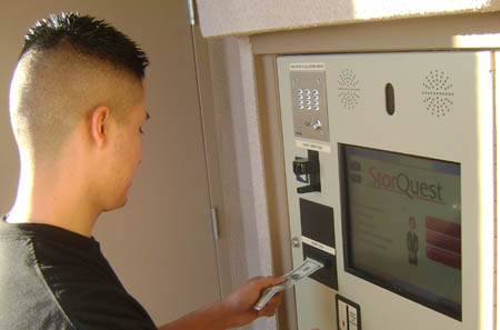Self storage in Los Angeles is even easier when using our convenient kiosk