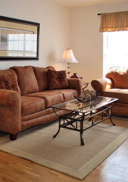 Hardwood floor are just one of many richmond apartment amenities at Foxchase