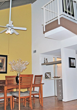 Apartments in Richmond, va with vaulted ceilings.