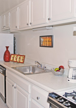 Kitchen at Cardinal Forest apartments in richmond, VA.