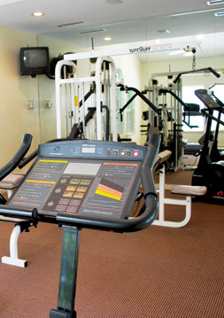 Fitness center at Legends at Virginia Center apartments in Glen Allen, Va.