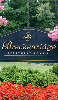 Sign for Breckinridge apartments in glen allen, va