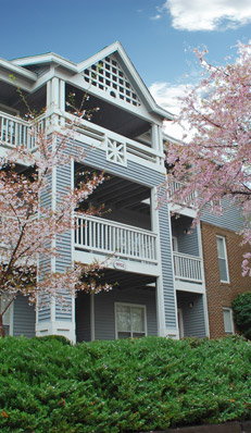Breckenridge apartments in Glen Allen have great amenities, like balconies.