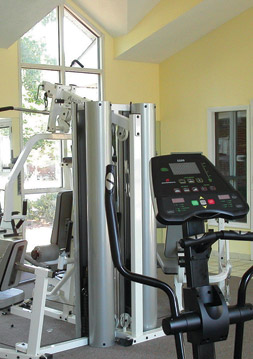 The fitness center at Atrium Apartments in durham, nc