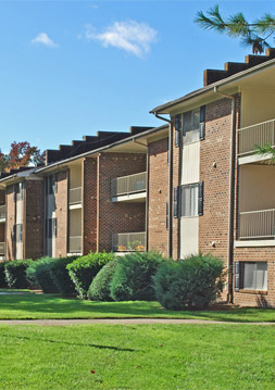 ... Balconies On Apartments In Durham, NC At Chapel Tower