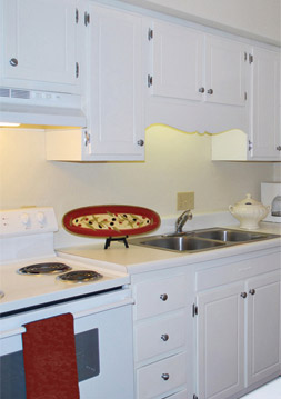 Modern kitchen at apartments in durham, nc