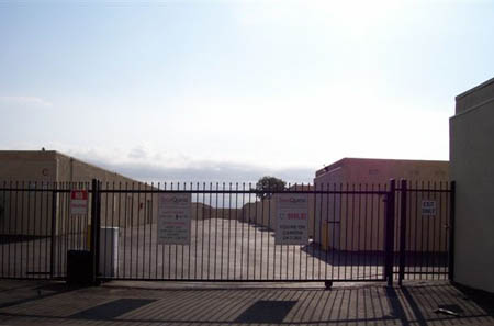 Self storage in Palm Springs features gated entry