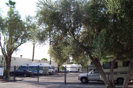 Vehicle storage is available at self storage in Palm Springs