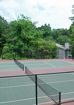 Tennis court Morgan's Landing