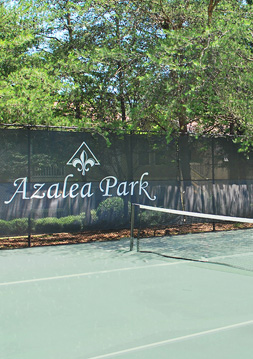 Tennis court Azalea Park at Sandy Springs