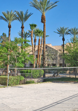 Sand volleyball Palm Villas at Whitney Ranch
