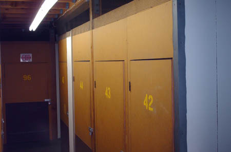 interior picture of a self storage unit