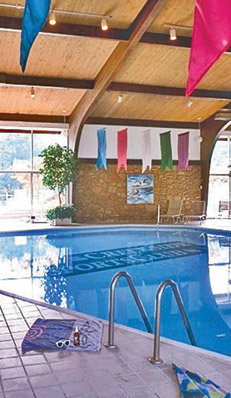 Indoor pool at apartments in raleigh at Pines of Ashton