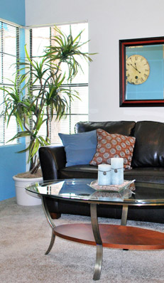 Living room at apartments in henderson nv at Pacific Islands in Green Valley