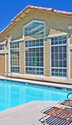 Las Vegas apartments with multiple pools at Royal Palms are availble for rent.