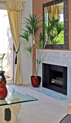 Fireplace at the Palm Villas Apartments For Rent in Henderson, NV