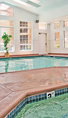 Indoor pool in las vegas at apartments at Royal Palms