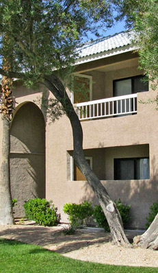 Las Vegas apartment balconies at Rancho Mirage