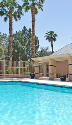Las vegas apartments pool at Rancho Mirage