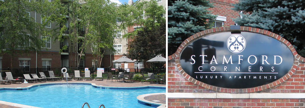 Sparkling swimming pool apartments Stamford Corners