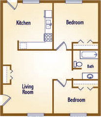 The floorplan for The Aspen