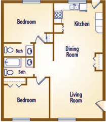 The floorplan for The Evergreen