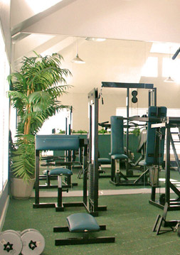 Apartment amenities at Old Buckingham Station include a fitness center