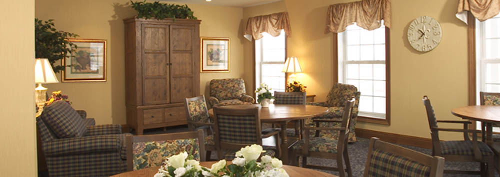 Resident lounge at assisted living near Beckley, WV